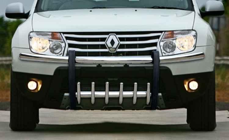 Защита переднего бампера Renault Duster