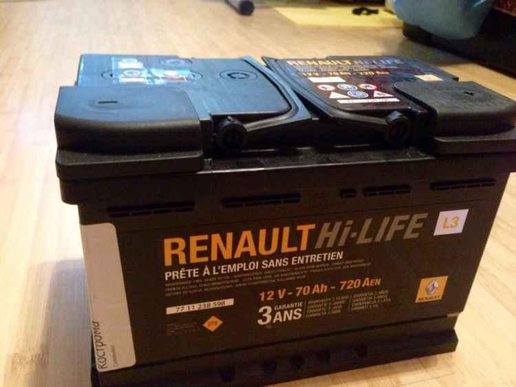АКБ для Renault Logan