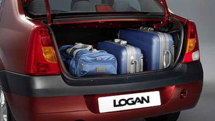 Вместительность багажника Renault Logan