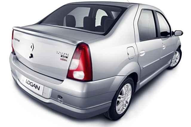 Тюнинг задний бампер Renault Logan