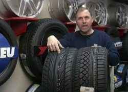Ассиметричные шины в магазине
