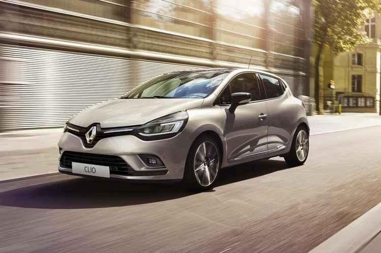 Серый Renault Clio
