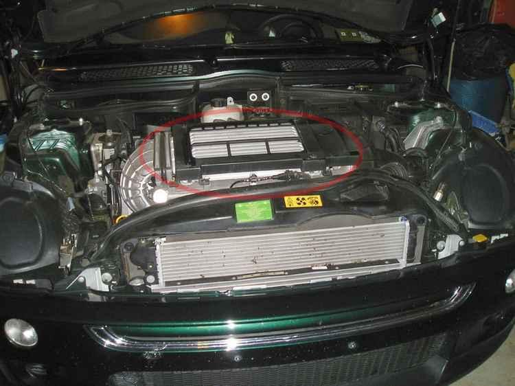 Интеркулер на Mini Cooper S