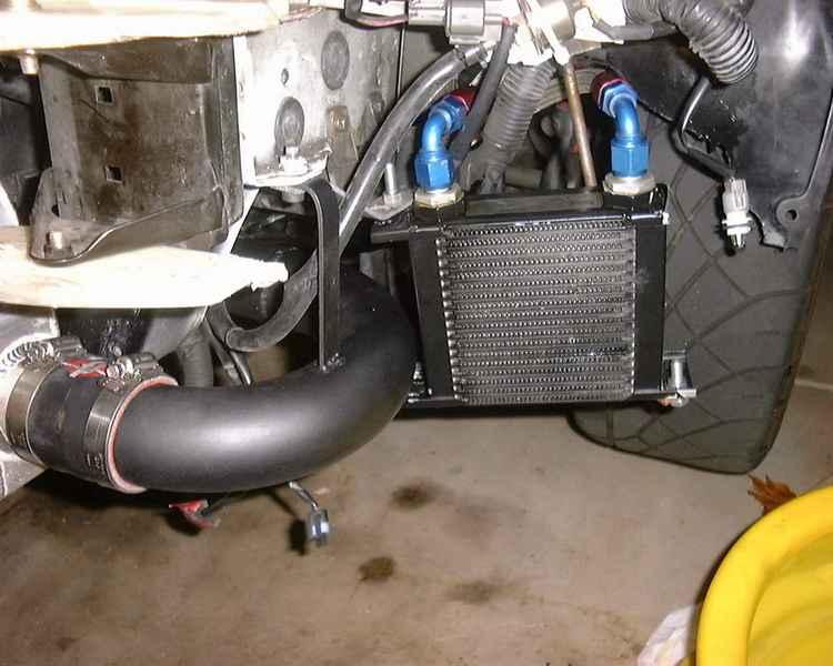 Подключение радиатора охлаждения масла