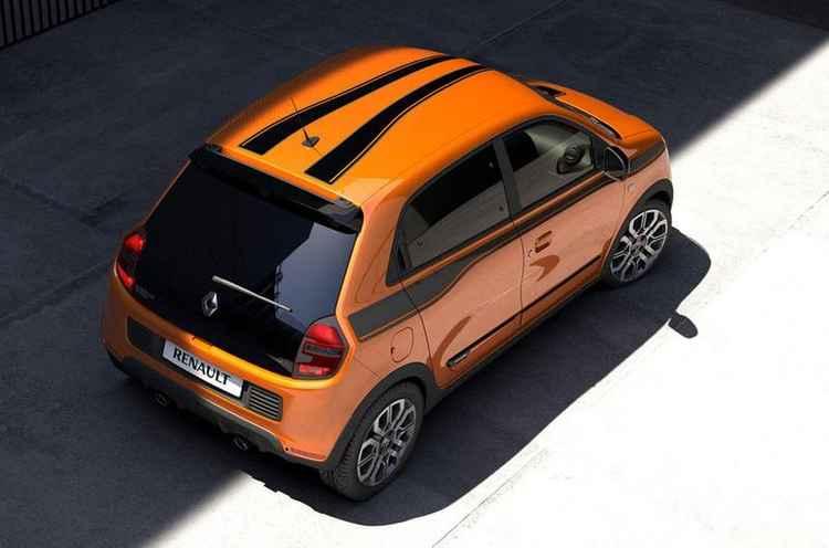 Twingo GT - вид сверху
