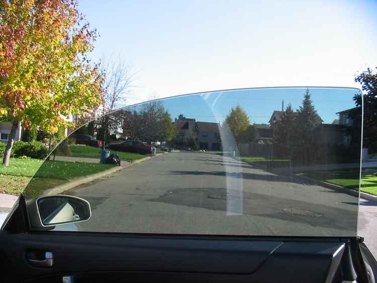 Переднее стекло без рамки