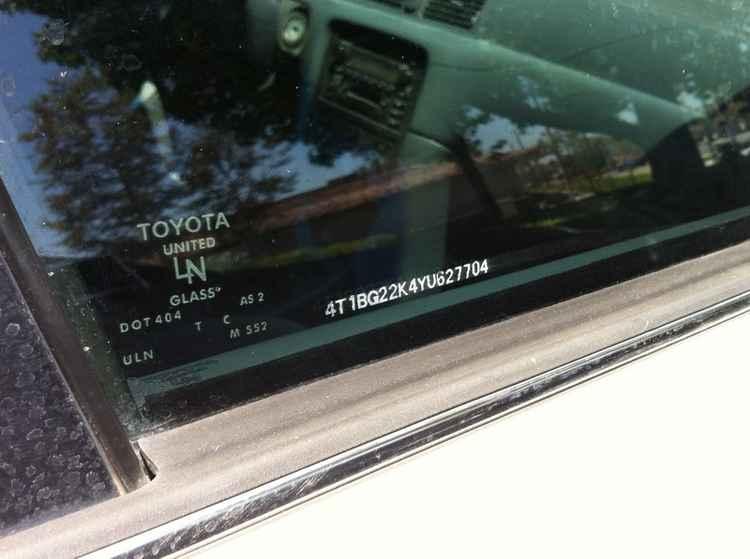 Маркировка стекол Toyota
