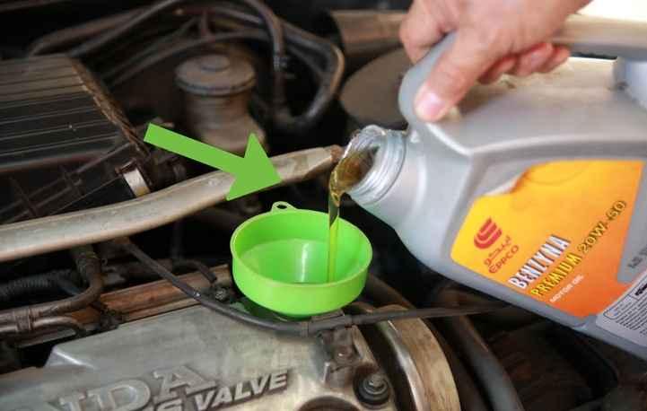 Замена масла в двигатель
