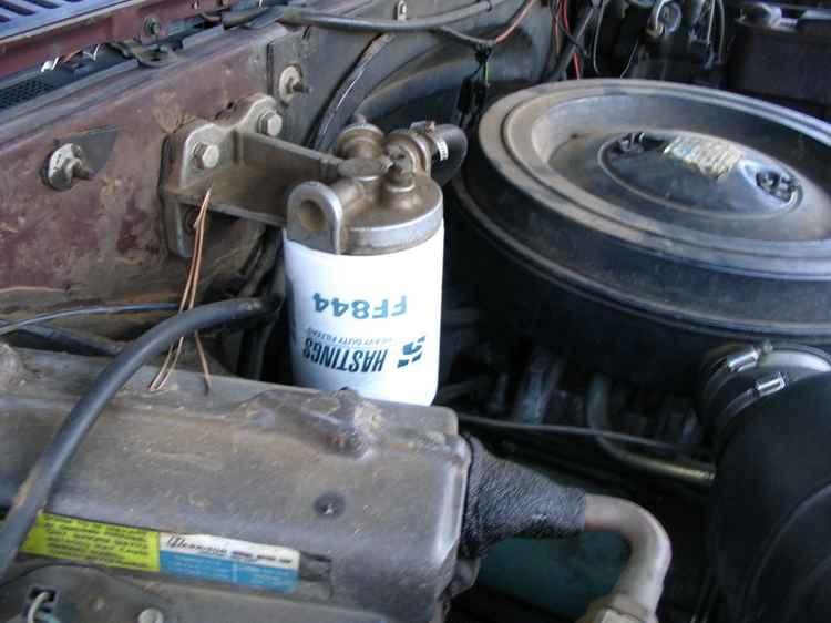Топливный фильтр на старом авто