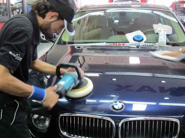 Полировка авто BMW