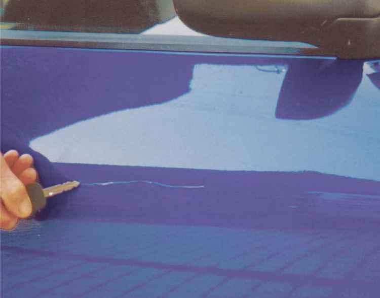 Царапина от ключа