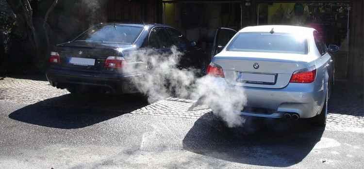 BMW на холостом ходу