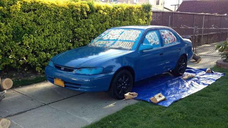 Покраска авто на улице