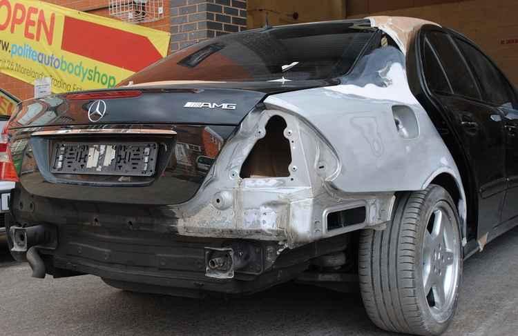 Mercedes подготовка к покраске