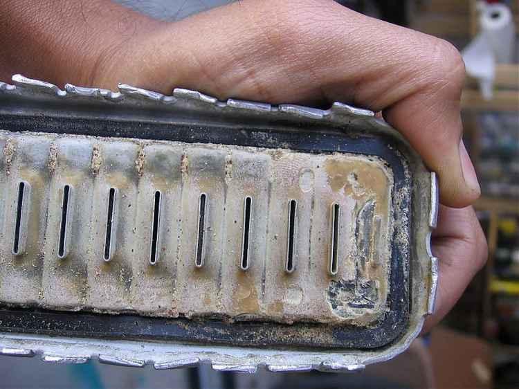 Старый радиатор кондиционера