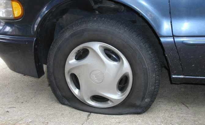 Пробитое колесо