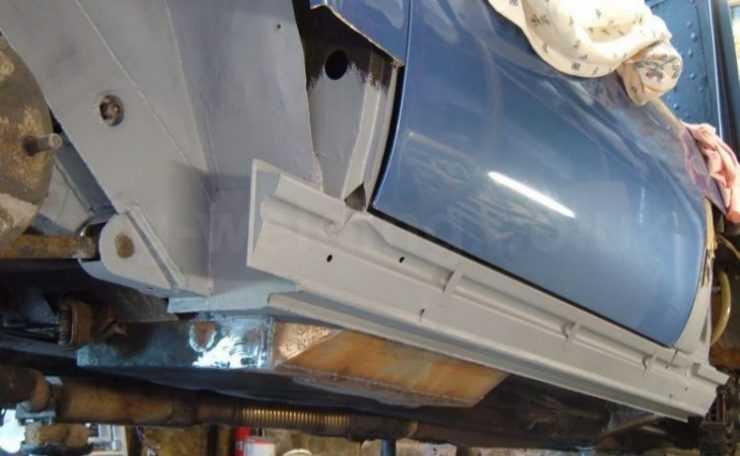 Восстановление порогов на автомобиле