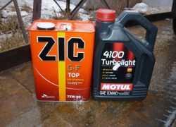 Моторное масло Motul и трансмиссионное масло ZIC