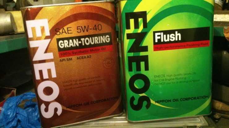 Моторное масло и промывка Eneos