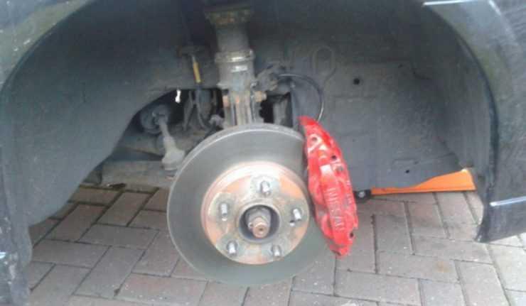 Nissan Almera тормоза