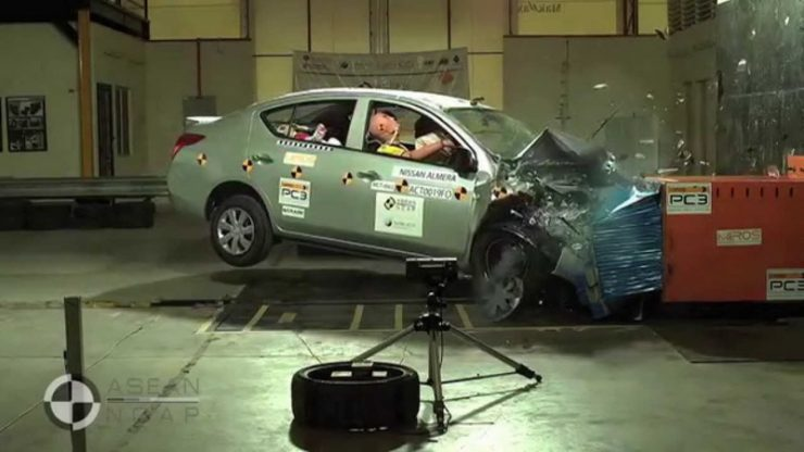 Краш тест Nissan Almera 2016