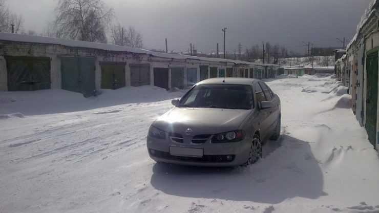 Ниссан Альмера зимой