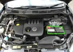 Расположение аккумуляторной батареи в Ниссан Кашкай