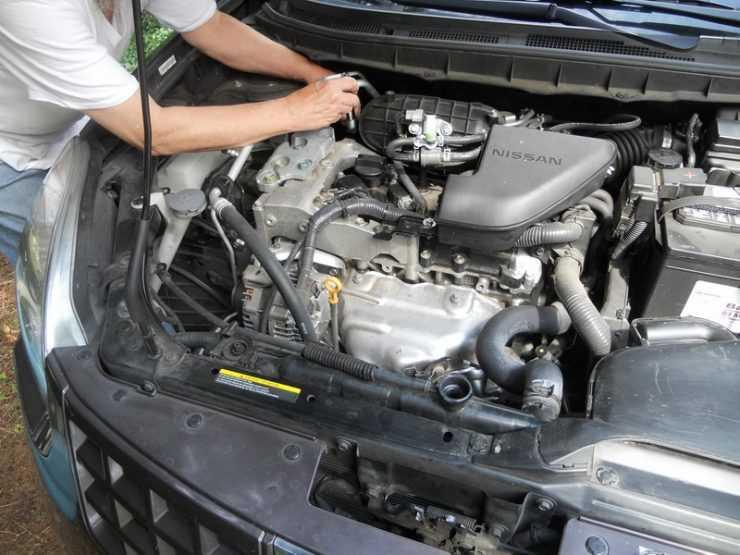 Замена антифриза на Nissan Qashqai