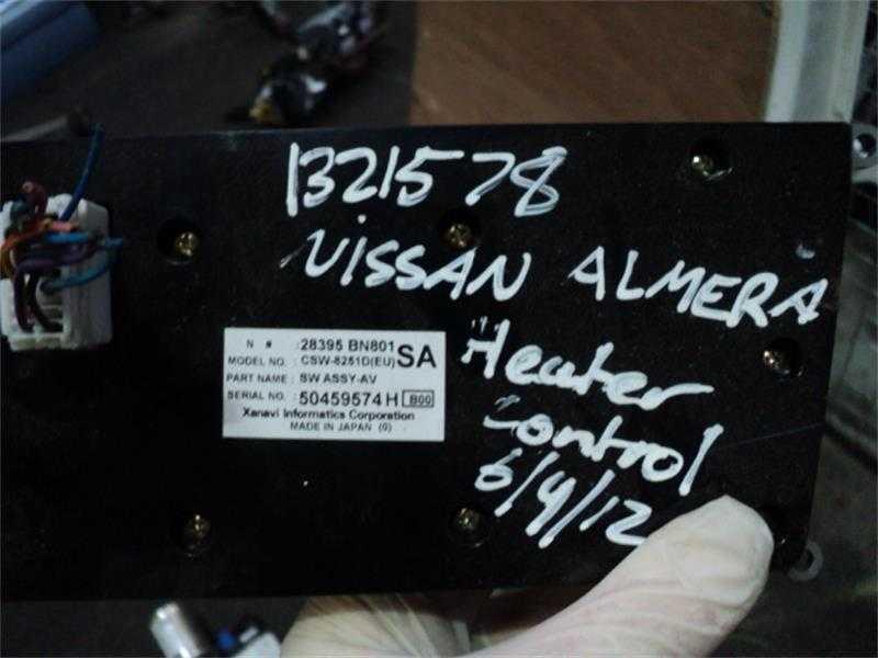 Элемент системы обогрева в авто Nissan Almera