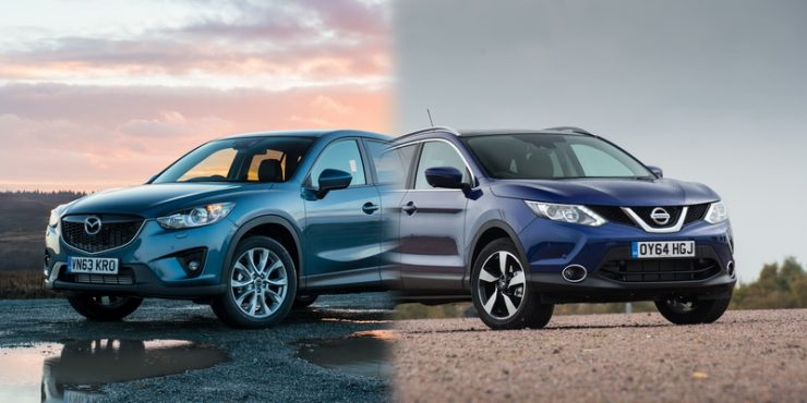 Подробное сравнение автомобилей Ниссан Кашкай и Мазда CX-5