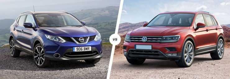 Сравниваем новые Nissan Qashqai и VW Tiguan