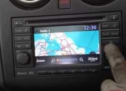 Использование навигации на Nissan Qashqai
